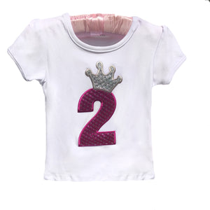 Open image in slideshow, Crown Number Birthday Top