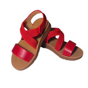 Open image in slideshow, Cross Strap Sandals