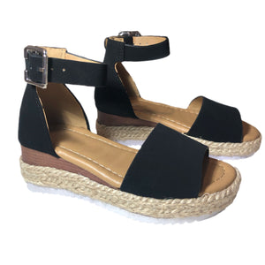 Open image in slideshow, Platform Espadrille Sandals