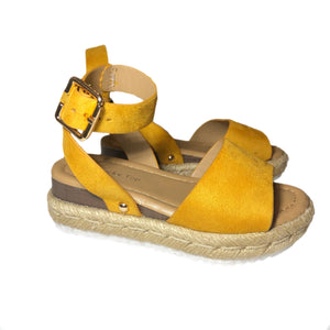 Open image in slideshow, Suede Platform Espadrille Sandals