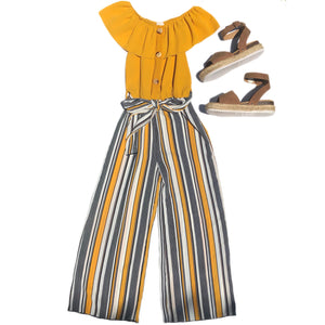 Open image in slideshow, Striped Jumpsuit