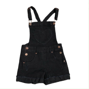 Open image in slideshow, Heart Pocket Overall Shorts