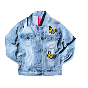 Open image in slideshow, Butterfly Denim Jacket