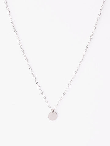 .925 Tiny Coin Necklace