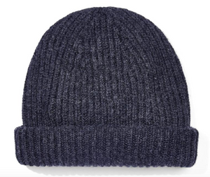 Origin Charcoal Cashmere Ribbed Beanie