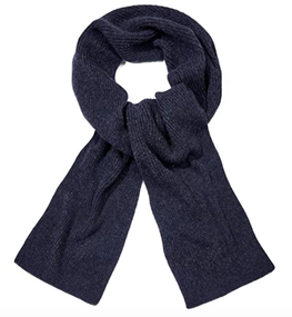Origin Charcoal Cashmere Ribbed Scarf