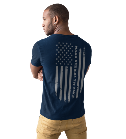 Men's Fitted Make America Fit Again T Shirt - Sun Fitness Apparel
