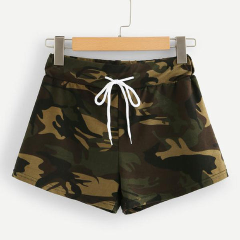 Casual Camo Women's Running Shorts - Sun Fitness Apparel