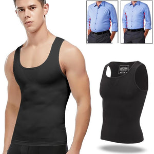 Men's Chest Binder Sleeveless Undershirt For Gynecomastia - Sun Fitness Apparel