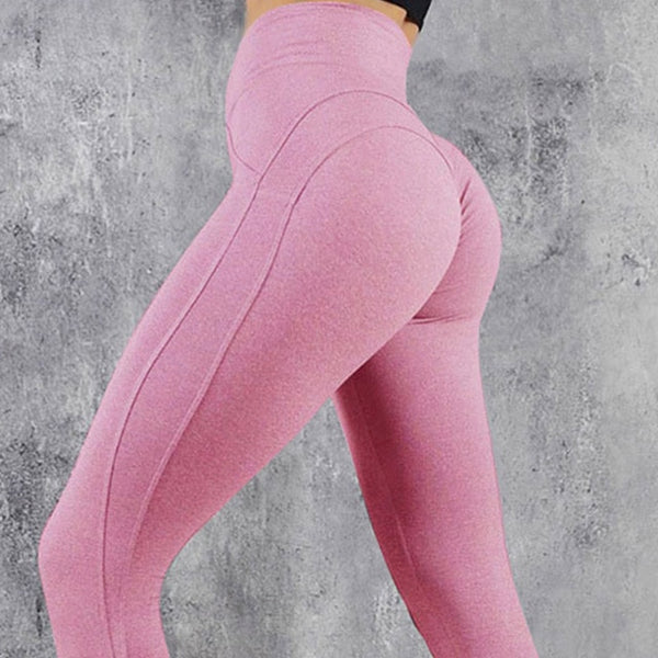Elastic High Waisted Fitness Workout Leggings