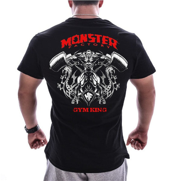 Men's Bodybuilding Graphic Design Short Sleeve Tshirt