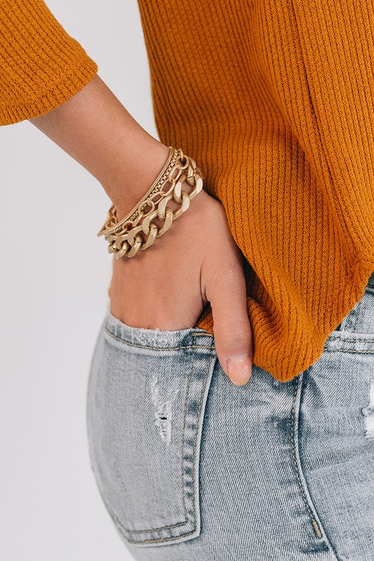 Gold layered chain bracelet