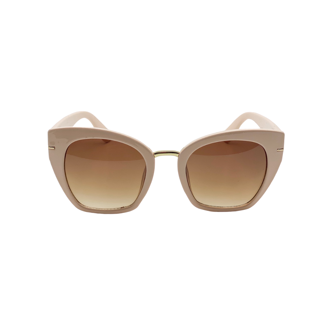 Peach Cat Eye Sunglasses
