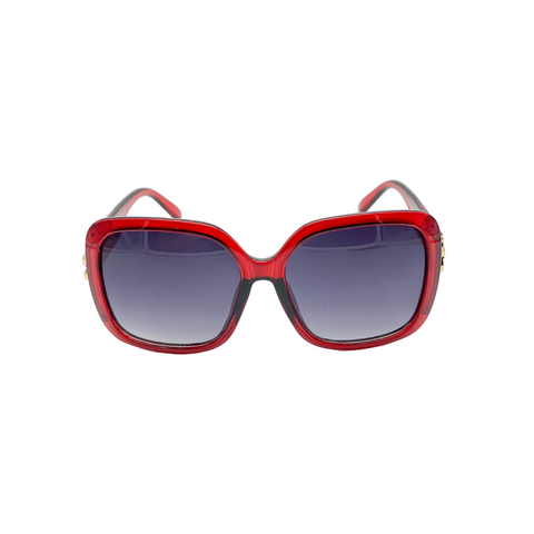 Red Oversized Square Sunglasses