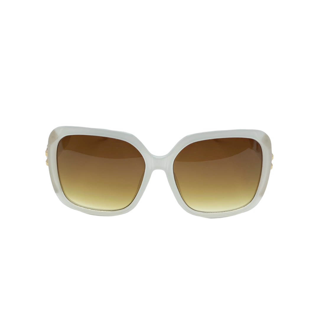 White Oversized Square Sunglasses