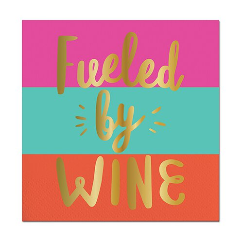 Fueled by Wine Beverage Napkins