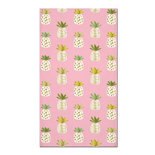 Pink Pineapple Guests Towels