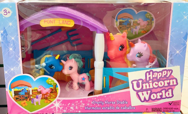 Happy Unicorn World Pretty Horse Stable