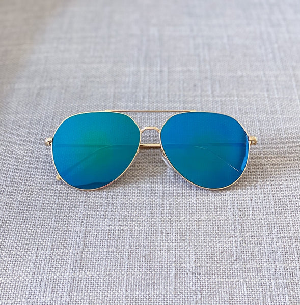 Acqua Green Aviator Sunglasses