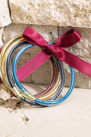Glitter Tube Bangles Set - Multicolor