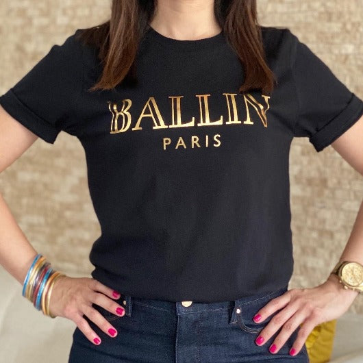 Black Ballin Paris Graphic T Shirt
