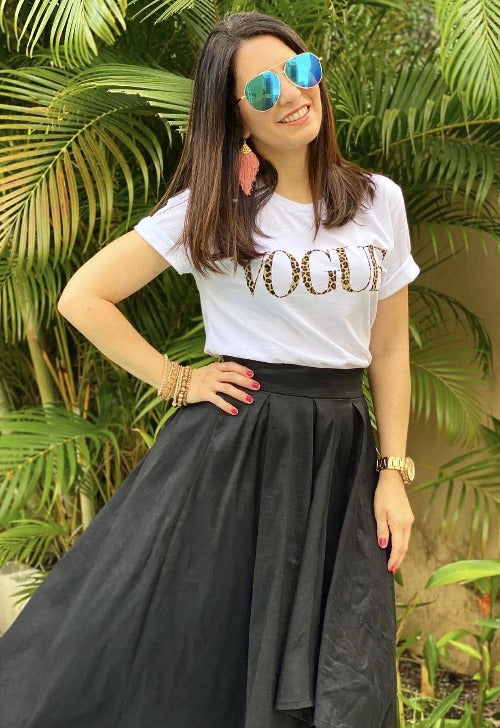 White Vogue Graphic T-Shirt