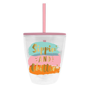 Sippin' and Chillin Double Wall Tumbler