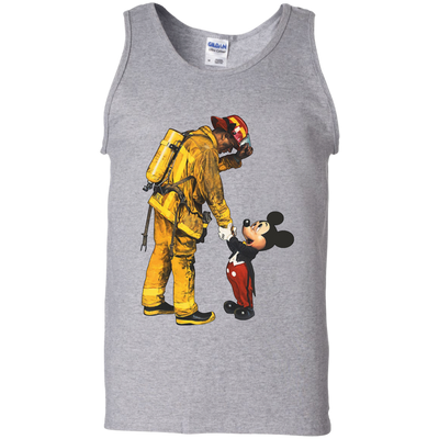 Firefighter Fireman And Mickey Mouse T Shirt Awesomefashiontees