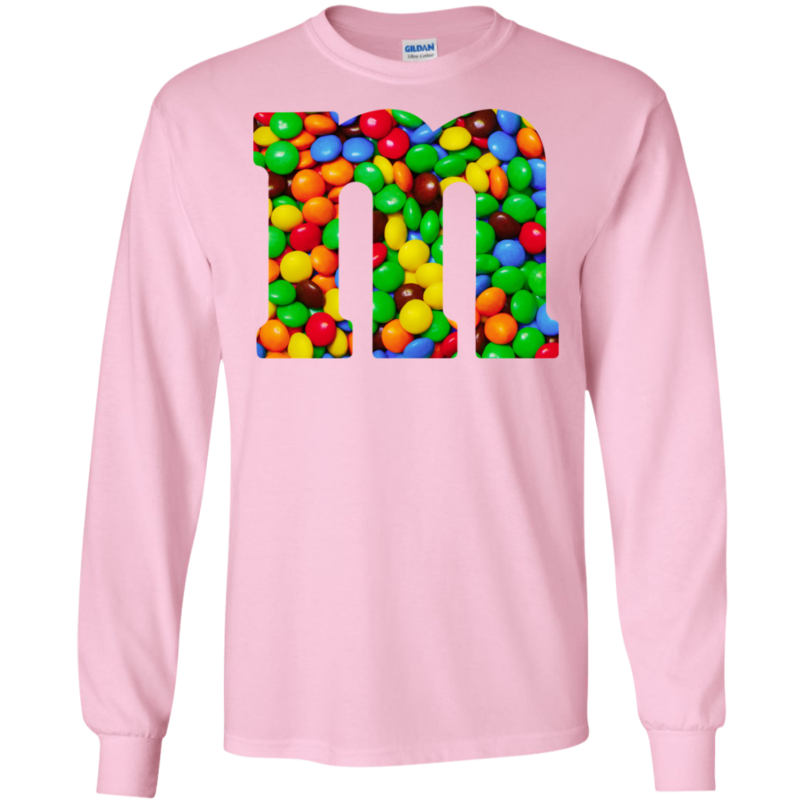 Colorful Letter M Candy Halloween Costume T Shirt - AwesomeFashionTees