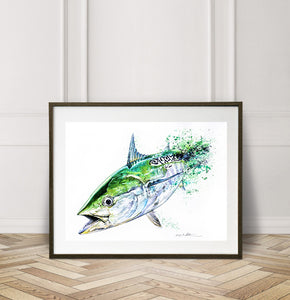 Limited Edition Fine Art Print: False Albacore, the Speed Demon