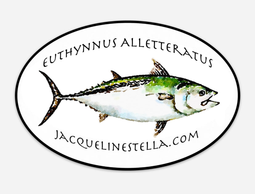 False Albacore, weather proof Oval Vinyl decal/Sticker