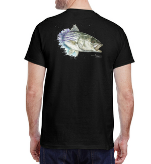 Chasing Striped Bass Tee - Black