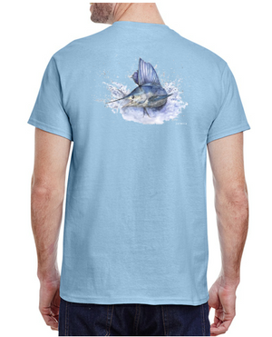Sailfish Tee - Light Blue
