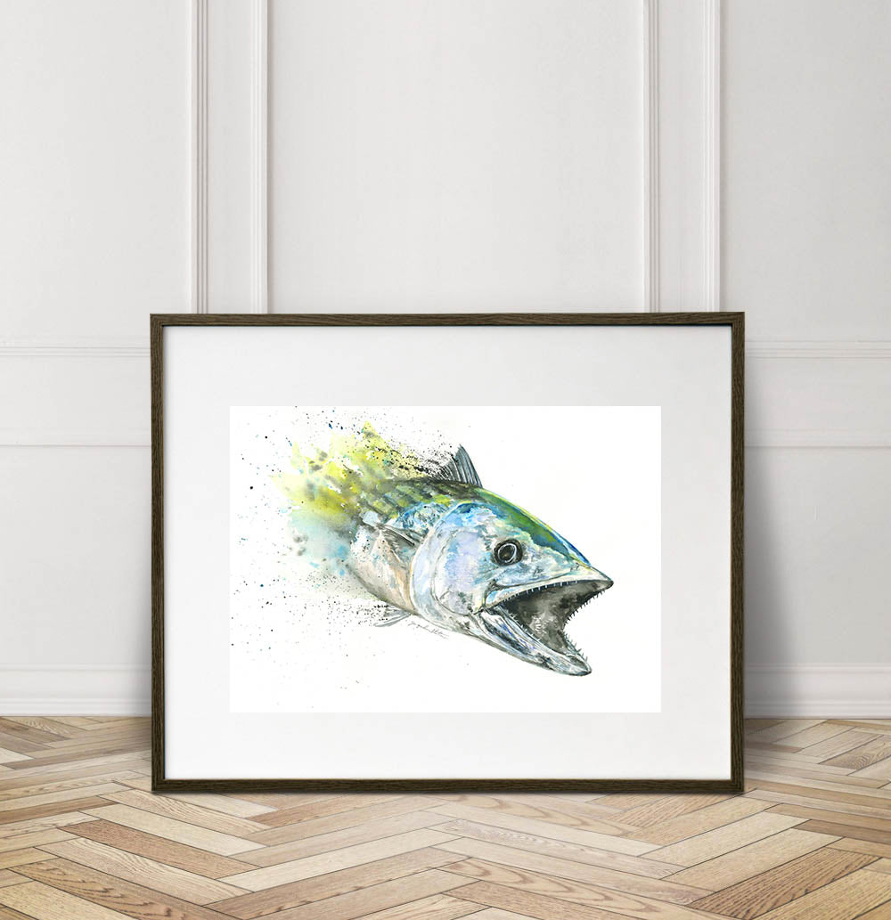 Bonito Watercolor Painting Giclée Fine Art Print