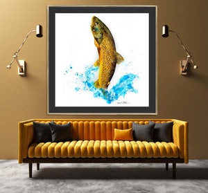 Limited Edition Fine Art Print: Brown Trout on the Fly