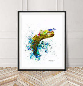 Limited Edition Fine Art Print: Pike, the Dragon King, on the fly