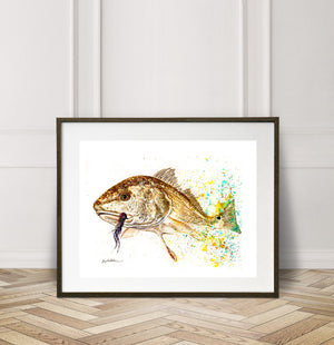 Limited Edition Fine Art Print: REDFISH, You are FIRE