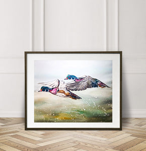 Limited Edition Fine Art Print: Wood Duck