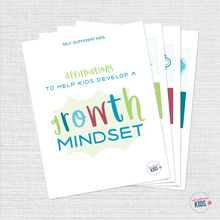 Load image into Gallery viewer, Growth Mindset Affirmation Cards for Kids