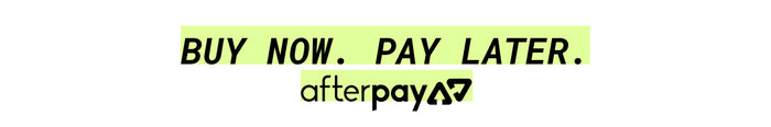 Boy Now, Pay Later. Afterpay.