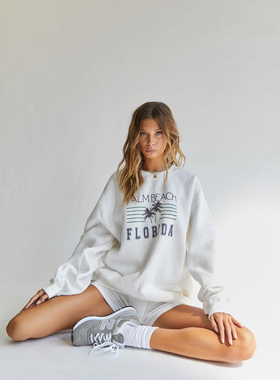 Palm Beach Sweater White