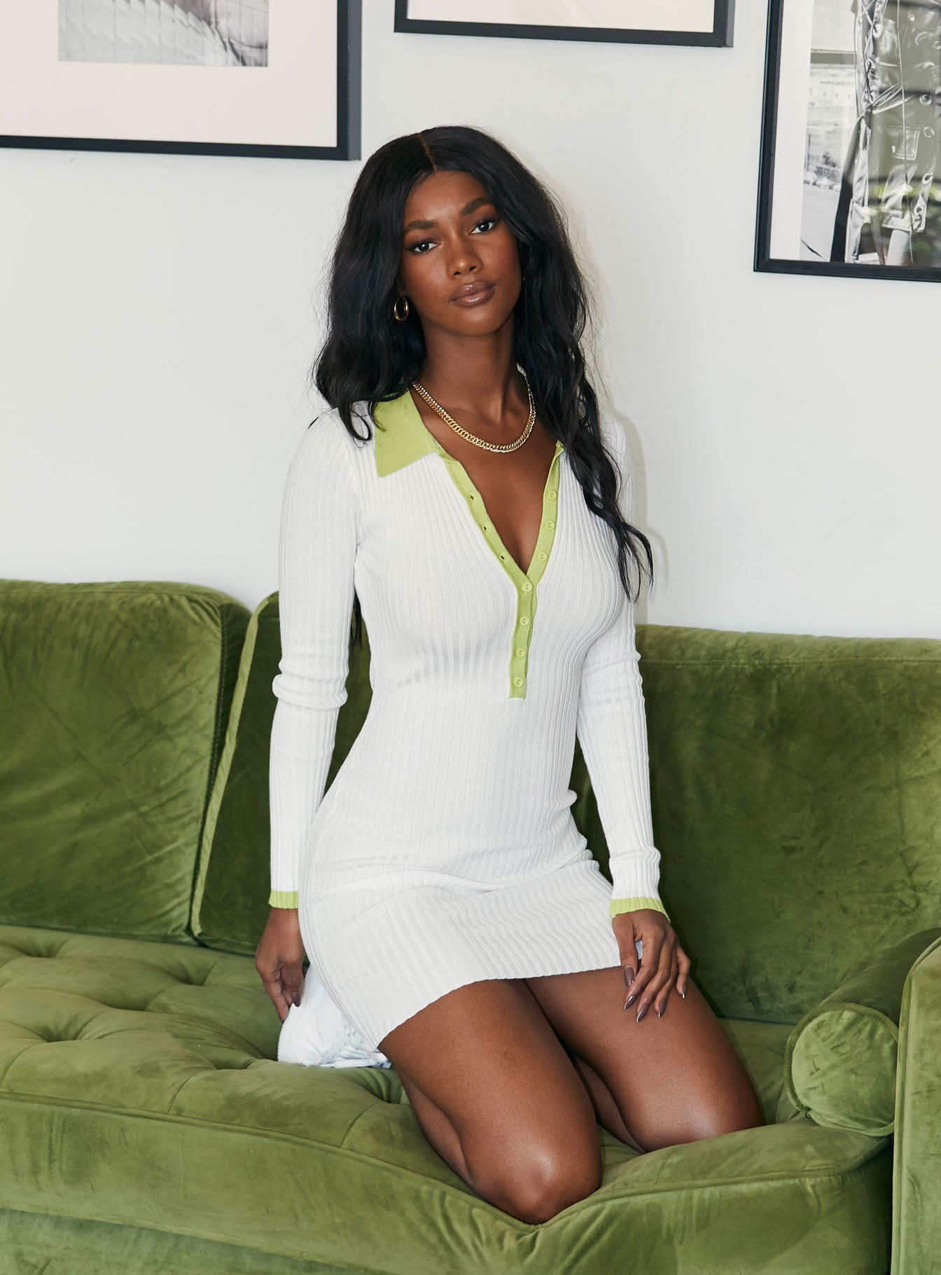 Lalani Mini Dress Green