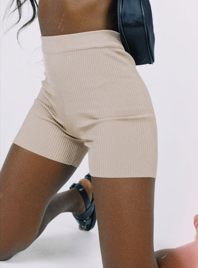 Harper Bike Shorts Brown