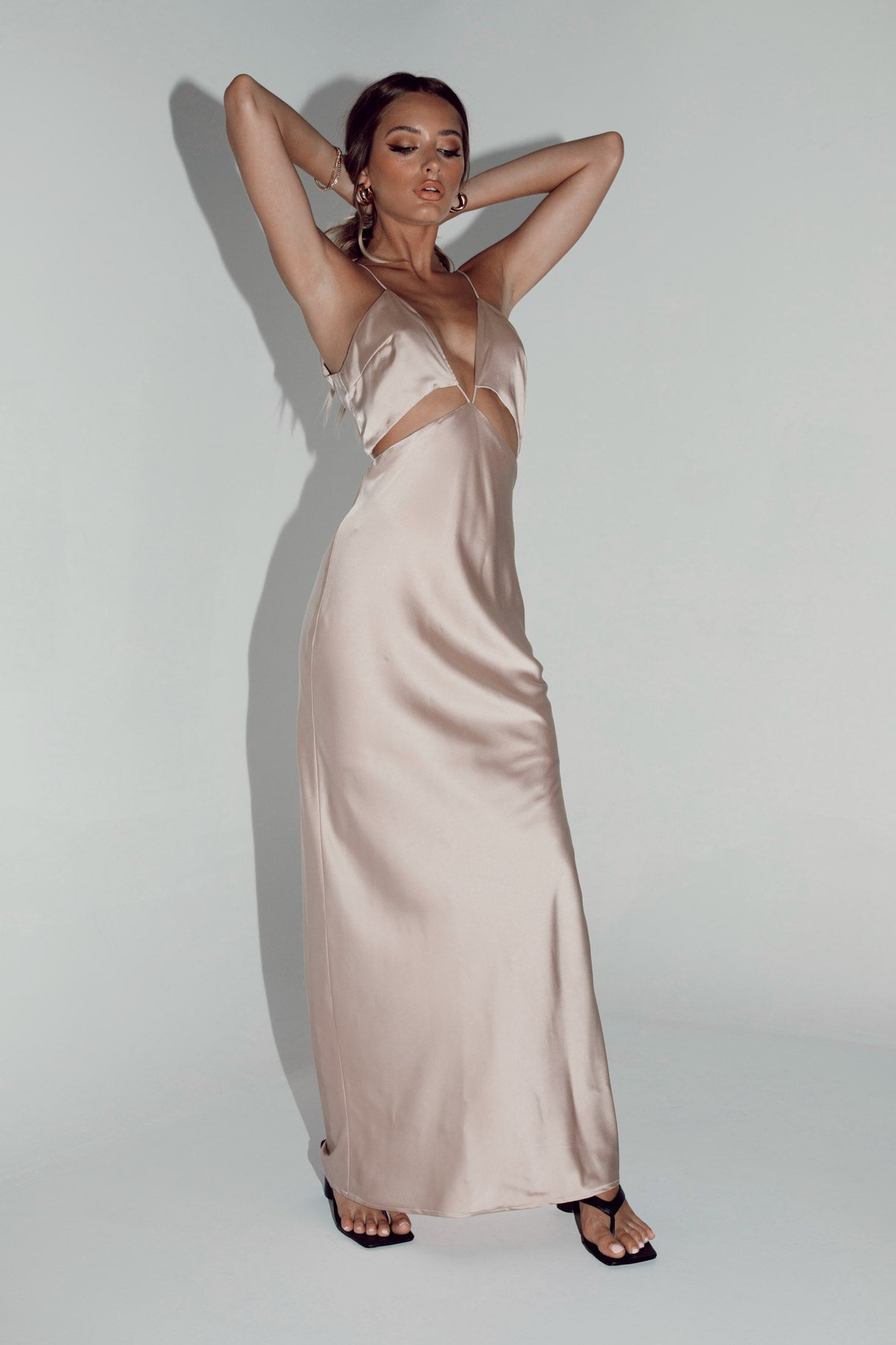 Larsa Midi Dress Champagne
