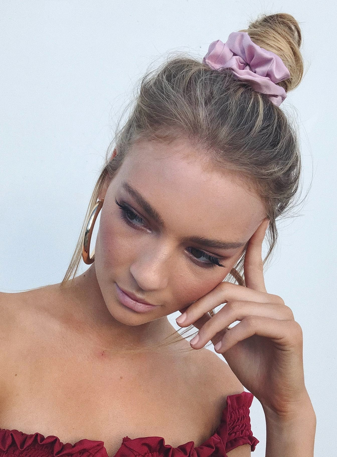 Satin Scrunchie Lilac
