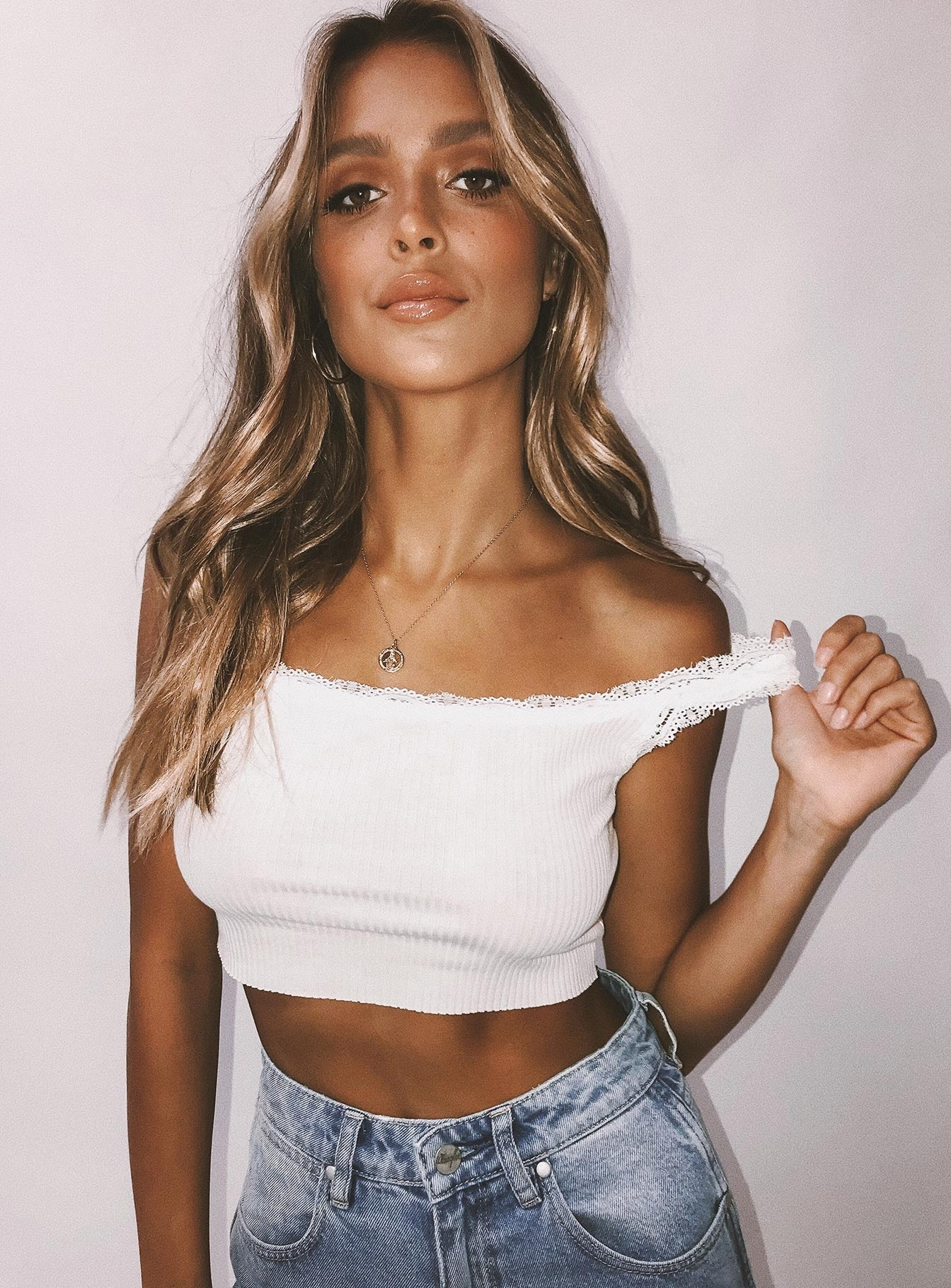 Atwood Crop Top White
