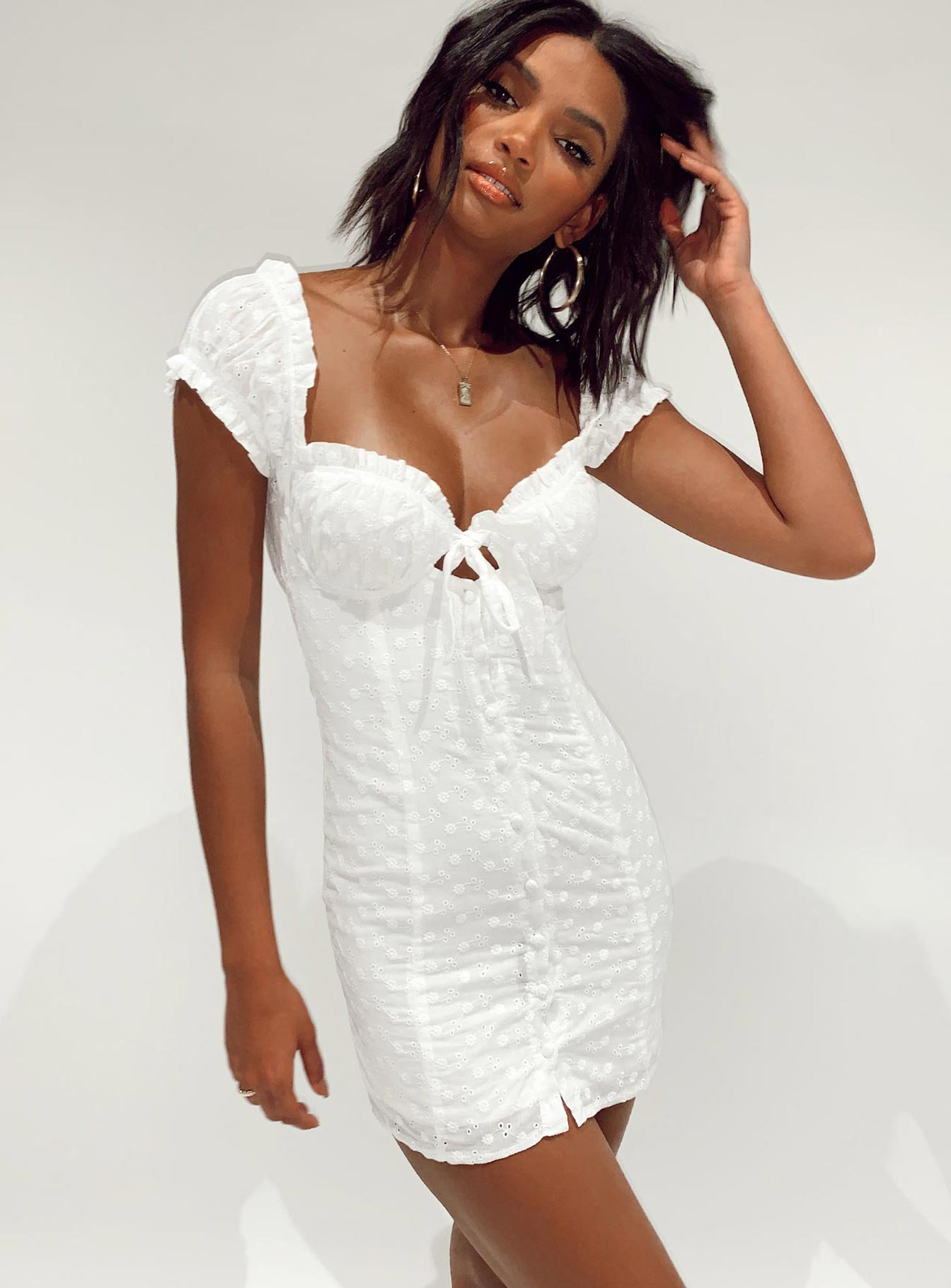 Elouise Mini Dress Broderie