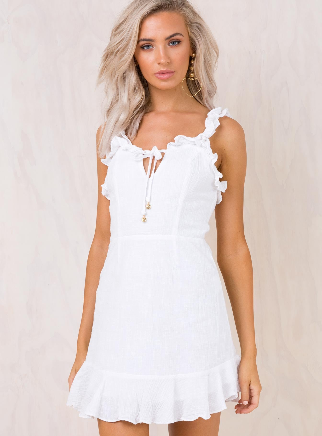 Sweet Like Sugar Mini Dress White