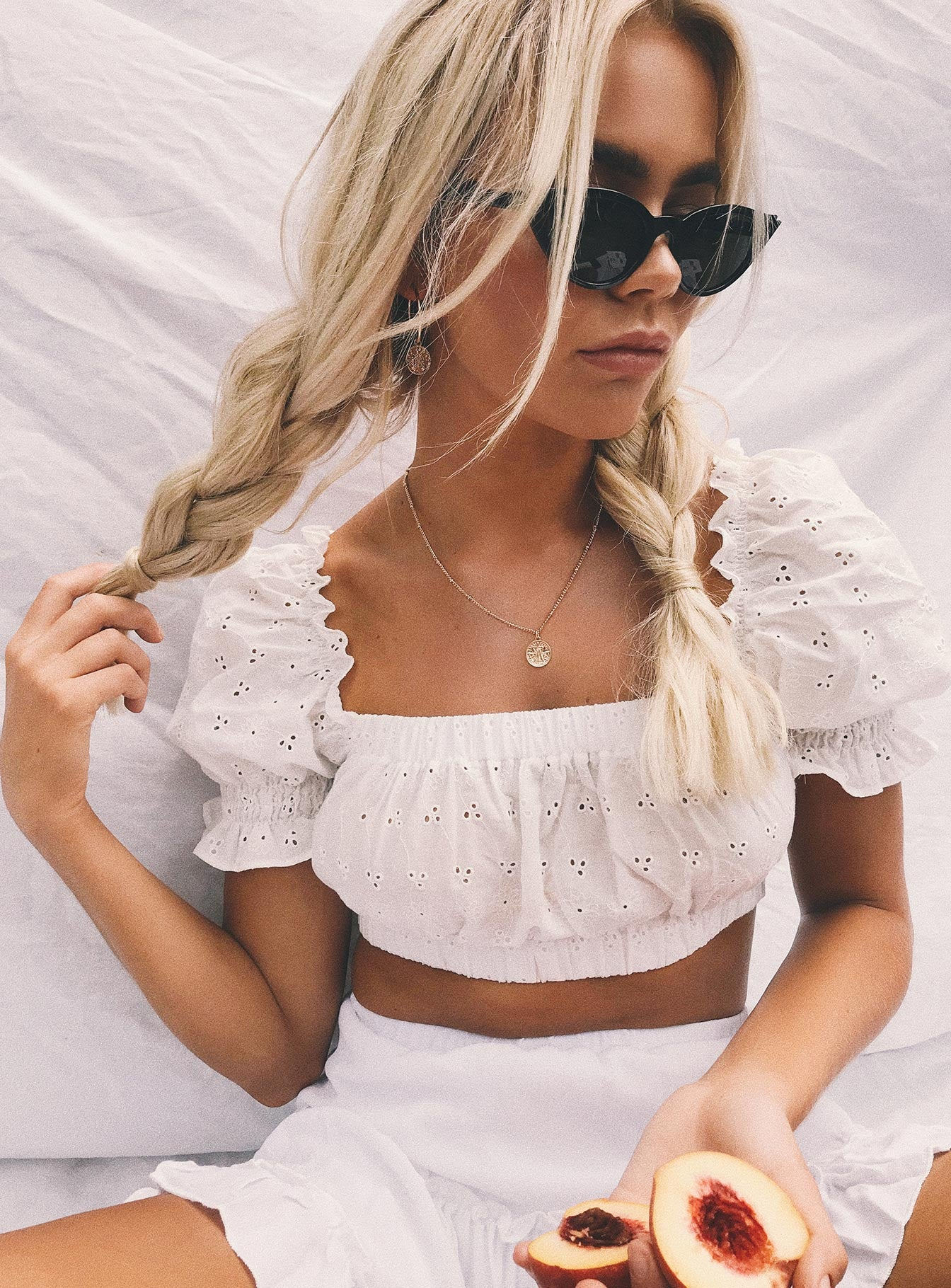 Sofia Crop Top White