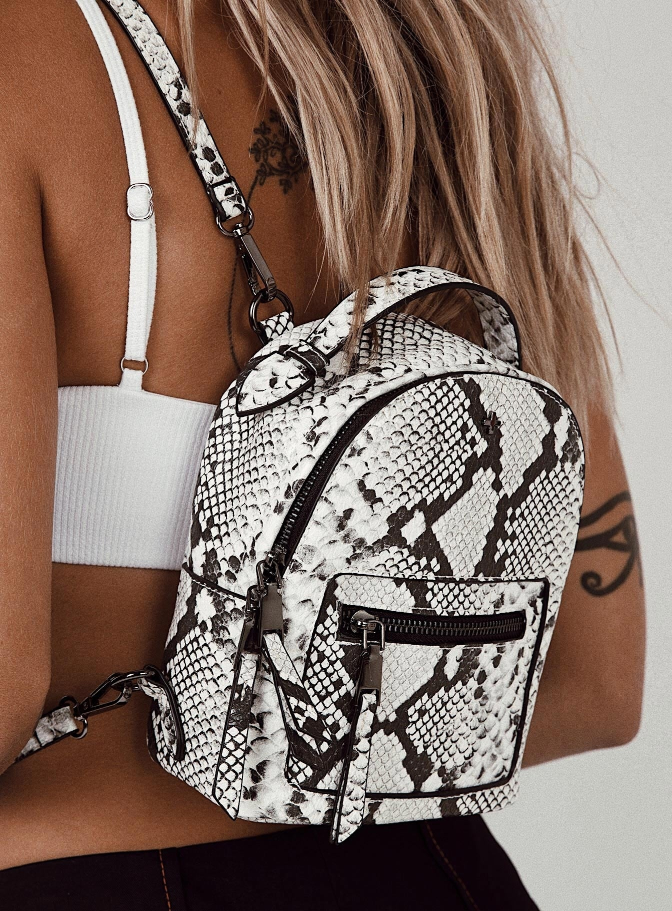 Peta & Jain Zoe Backpack Snakeskin
